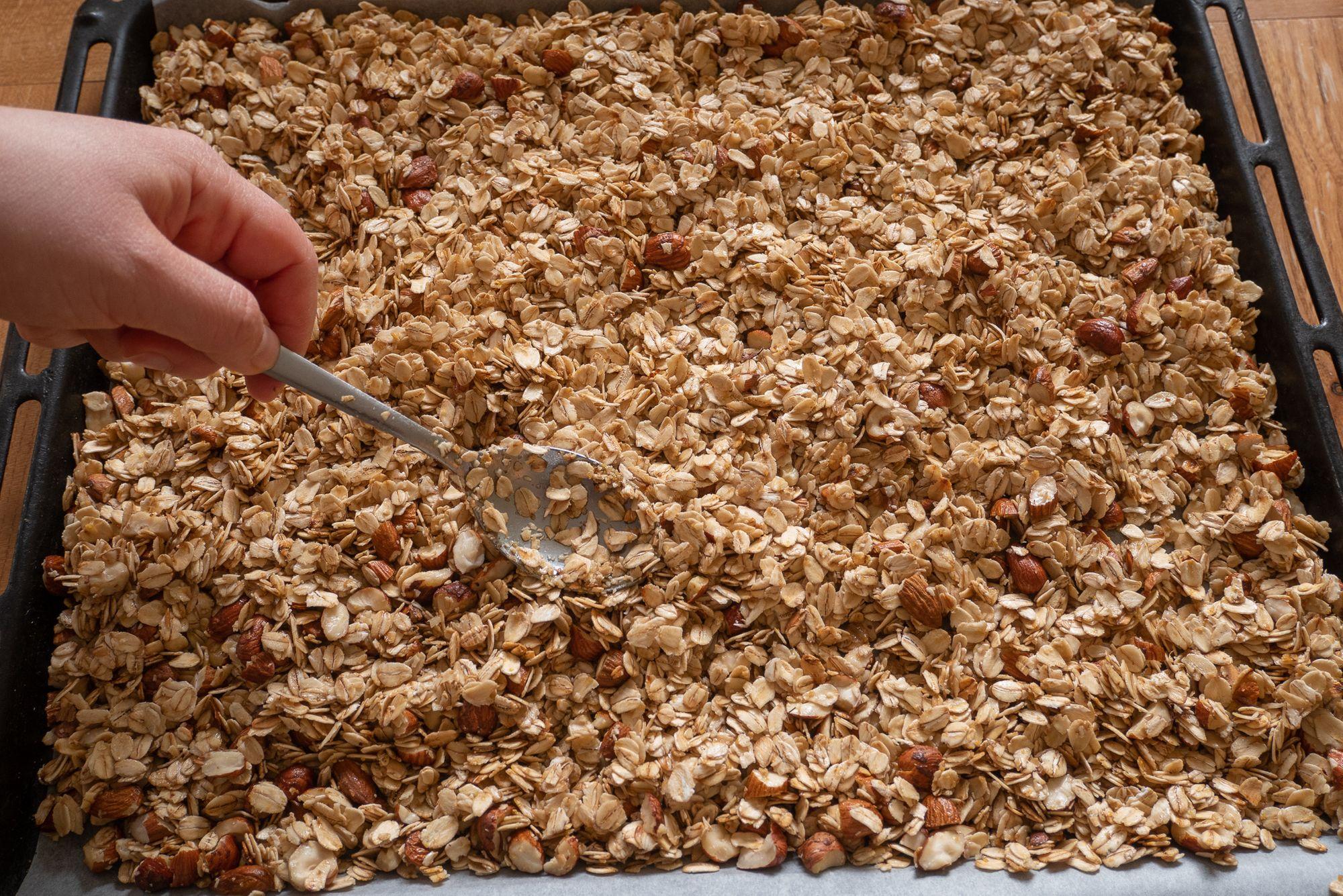 Granola baking tray