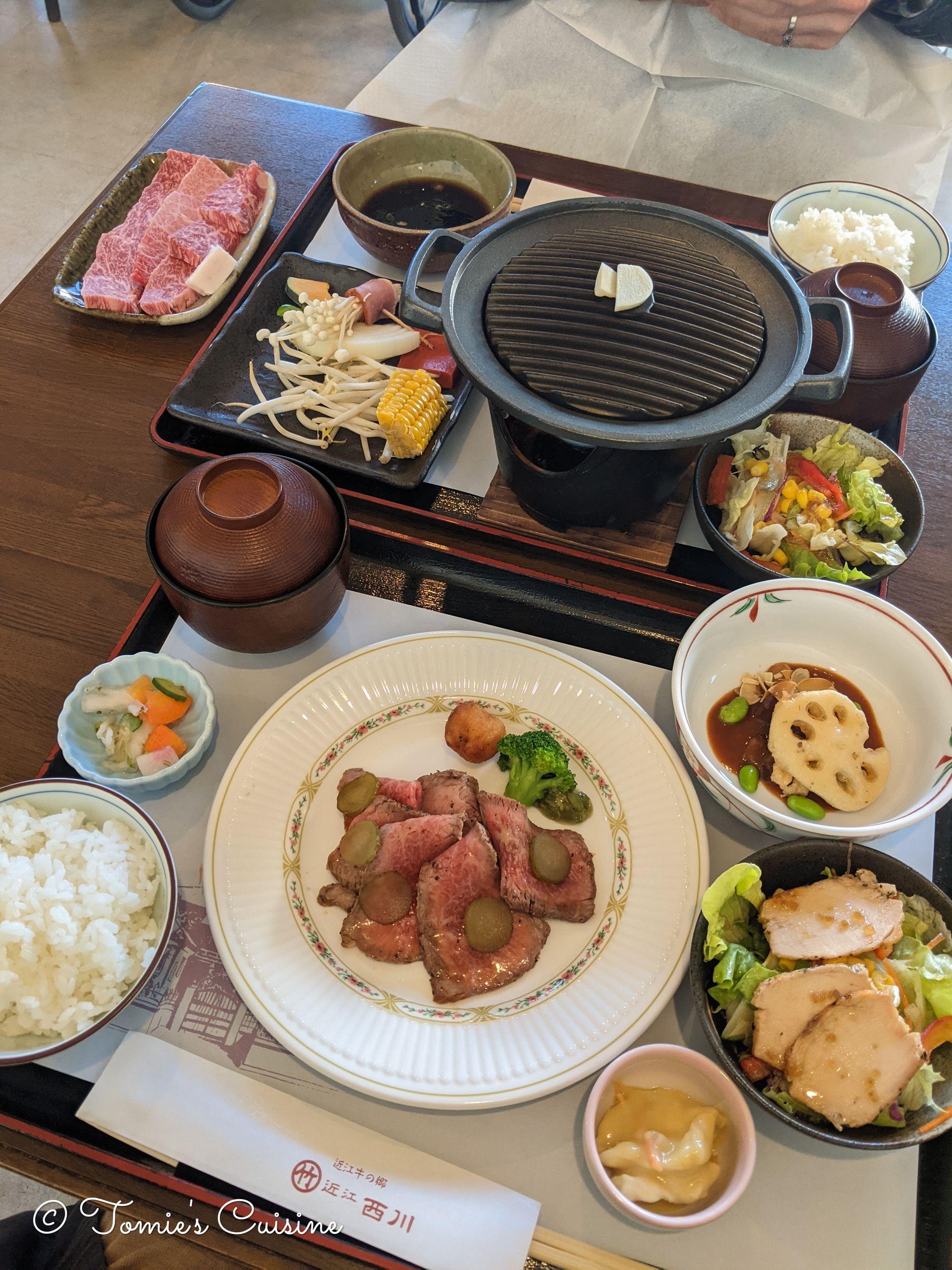 Omi beef lunch set at Marutake Nishikawa