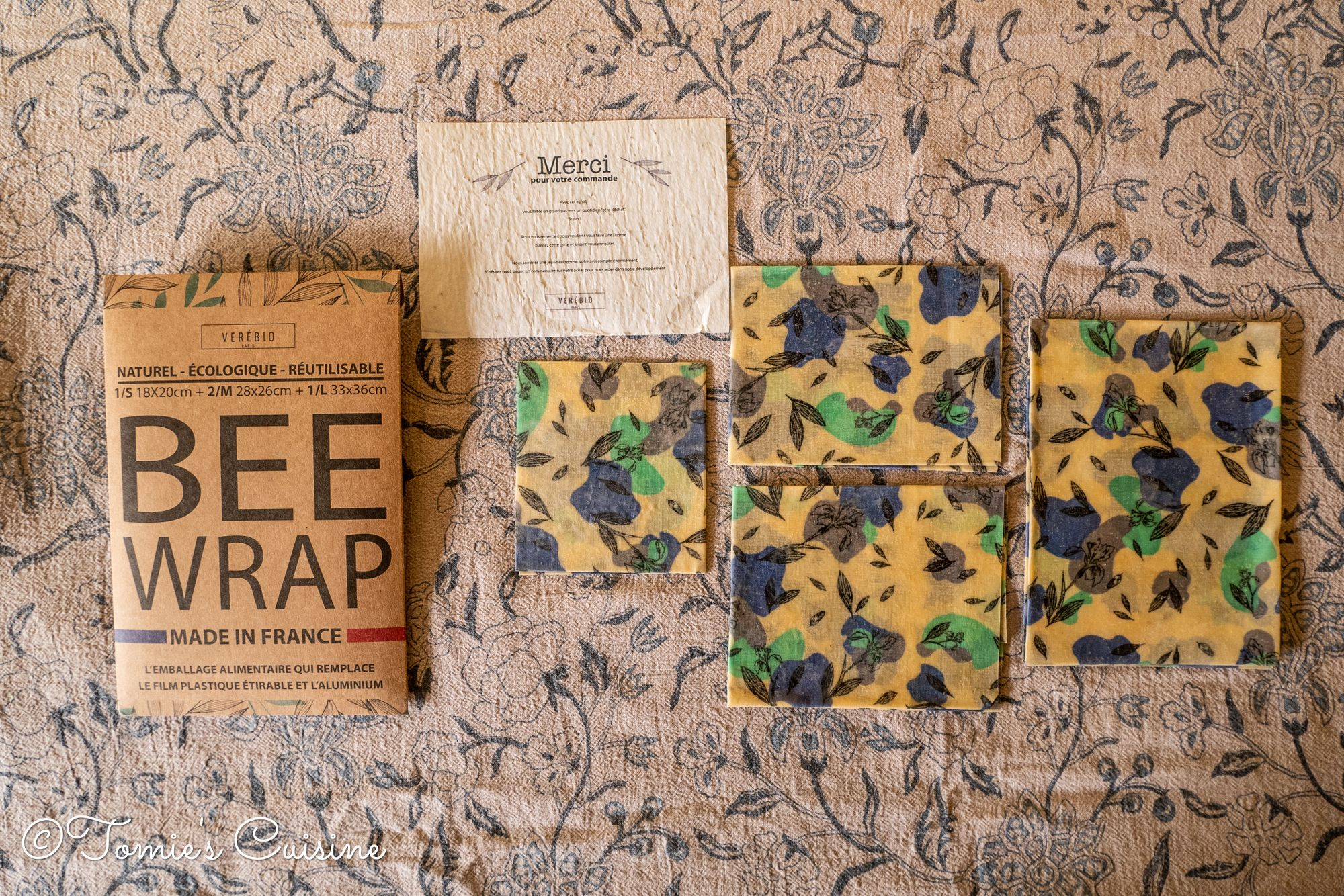 Verebio's BEE Wrap set with the thank-you card