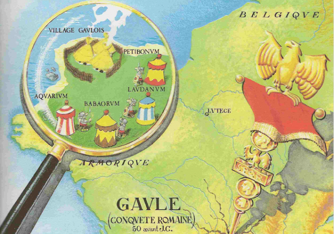 Map at the beginning of every Astérix comic