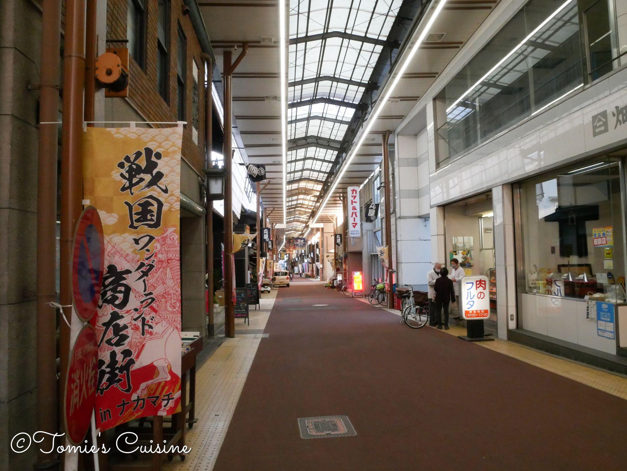 Nakamachi shoutengai, where we adopted 3 Tanuki