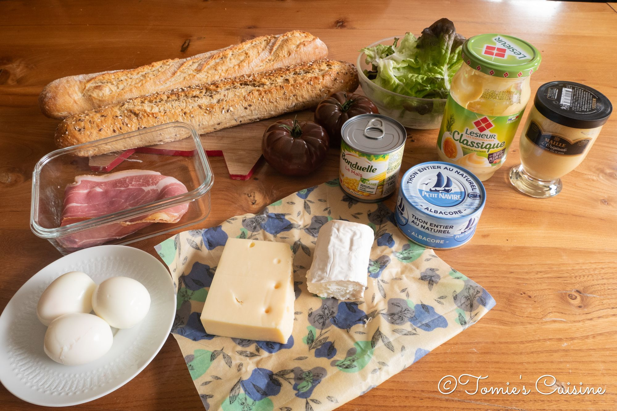 All the ingredients used today to prepare the sandwiches