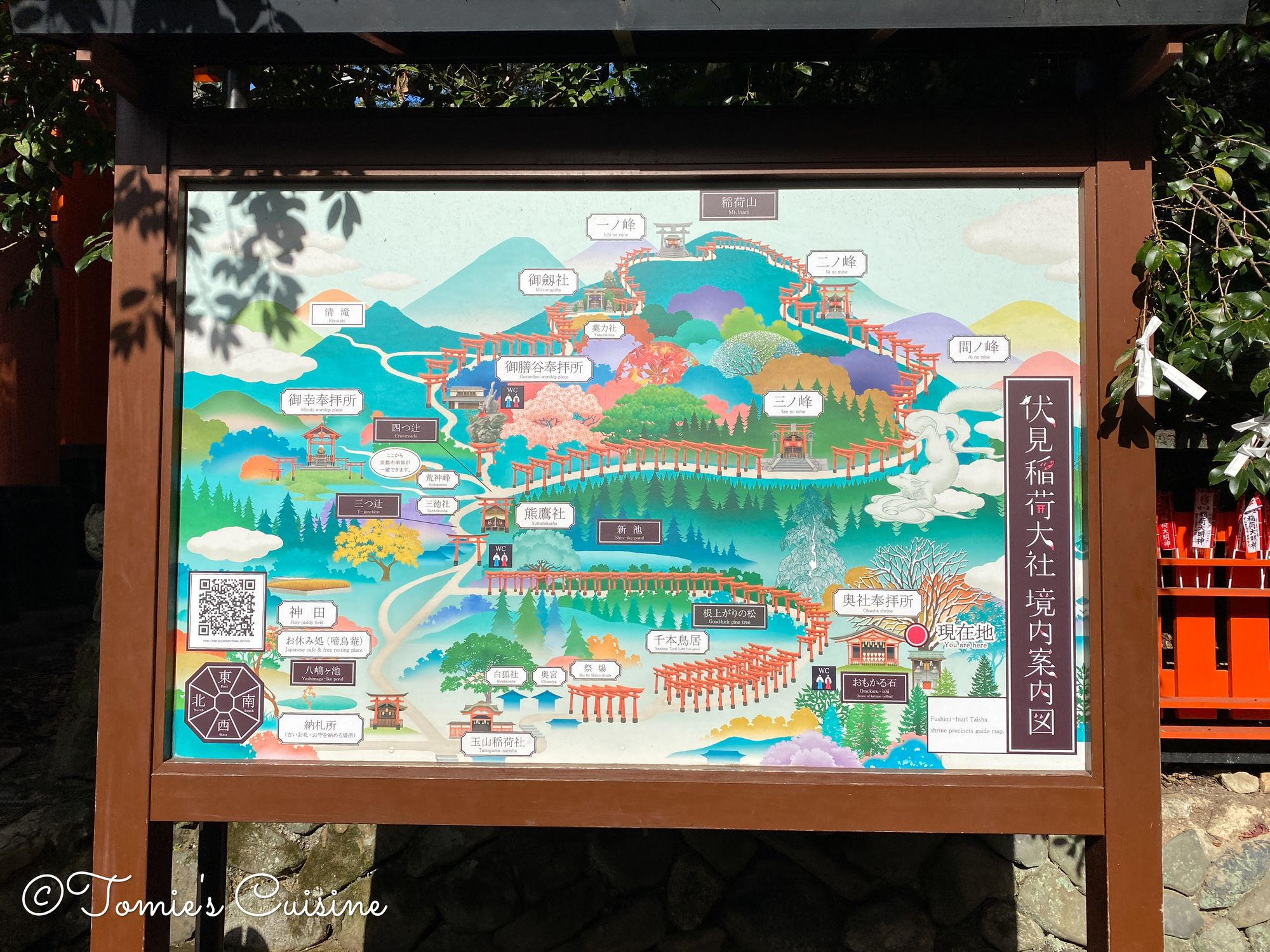 The map of Mount Inari