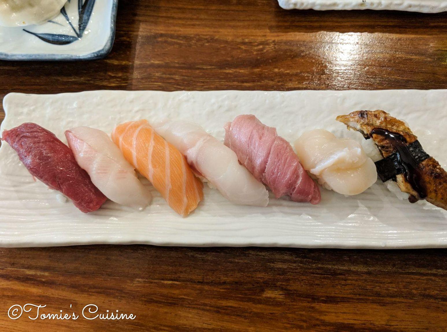Selection of nigiri that my sensei made.